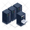 Data Centers Server Room Online Document Management Icon