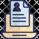 Online Documentation Curriculum Vitae Cv Icon