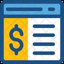 Online Work Money Icon