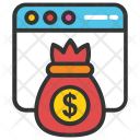 Online Earning Money Icon