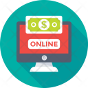 Online Earning Monitor Icon