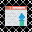 Online Edit Webpage Icon
