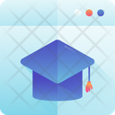 Online Education Student Hat Icon
