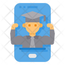 Smartphone Skill Strong Icon