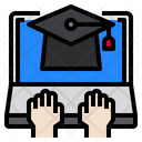 Graduate Elearning Laptop Icon