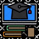 Graduate Book Monitor Icon