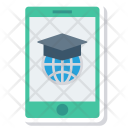 Education Online Mobile Icon
