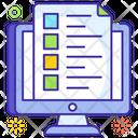 Online Education Online Graduation Internet Education Icon