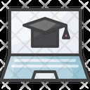 Online Education Study Icon