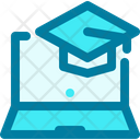 Online Education School Study Icon