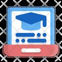 Laptop College Education Icon