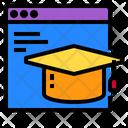 Website Graduation Cap Technology Icon
