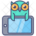 Online Education Owl Mobile Icon