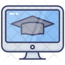Online Education Hat Student Icon