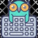 Online Education Owl Study Icon