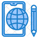 Smartphone Learning World Icon