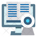 Online Education Video Conference Book Icon