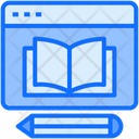 Online Education Knowledge Web Icon