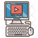 Online Education Knowledge Icon