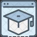 Online Education Graduation Icon