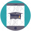Education Mobile Mortarboard Icon