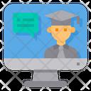 Computer Lecture Discussion Icon