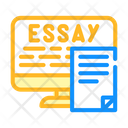 Digital Essay Color Icon