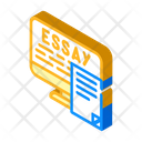 Digital Essay Isometric Icon