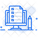 Online Exam Online Examination Online Quiz Icon
