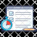 Online Exam Online Testing Examination Icon