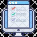 Online Exam E Learning Evaluation Icon