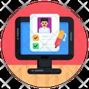 Online Test Online Quiz Online Exam Icon