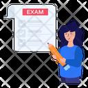 Digital Exam Online Exam Online Paper Icon