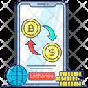 Exchange Bitcoin Exchange Cryptocurrency Online Exchange Icon