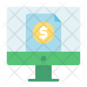Online File File Coin Icon