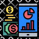 Mobilephone Graph Money Icon