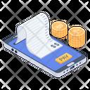 Mobile Bill Online Bank Statement Online Financial Bill Icon