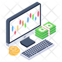 Online Financial Chart Financial Graph Business Analytics Icon