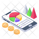 Online Business Chart Online Financial Chart Mobile Analytics Icon