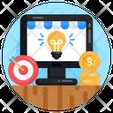 Online Financial Idea Icon