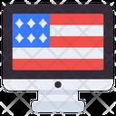 Online Independence Online Flag Online Flaglet Icon