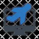 Online Flight Tour Icon