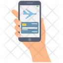 Online Reservation Flight Booking Mobile Booking Icon