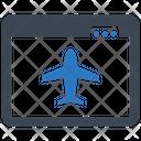 Online Booking Flight Icon