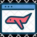 Online Flight Booking Airplane Internet Icon