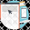 Online flight reservation Icon