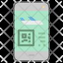 Online flight ticket Icon