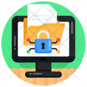 Online Files Security Online Folder Security Cybersecurity Icon