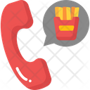 Online Food Call Icon