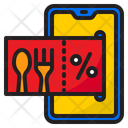 Online Food Offer Icon